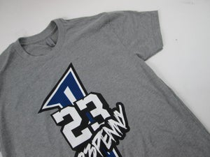 "Image of 23Penny Short Sleeve Tee ""Grey/Royal Blue"""