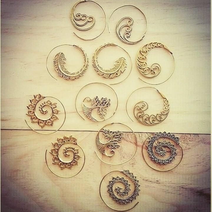 Image of Antique Spiral Hook Earrings