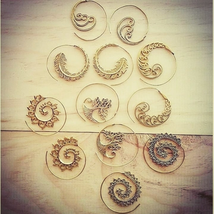 Image of Antique Spiral Hook Earrings