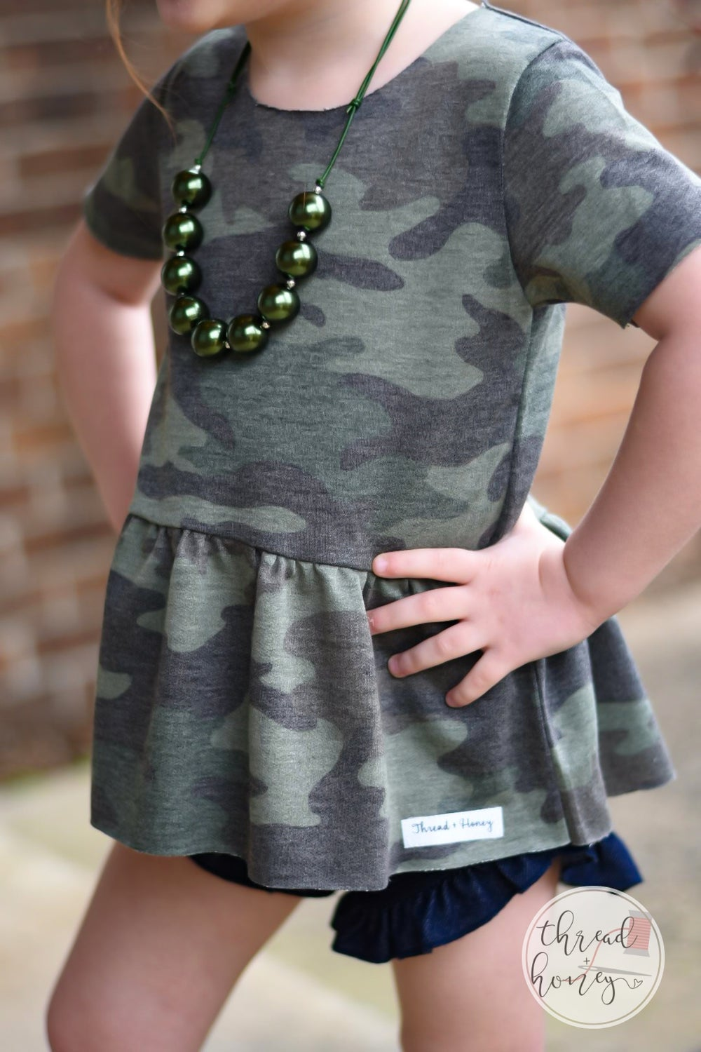 Image of Camo Peplum {second release}