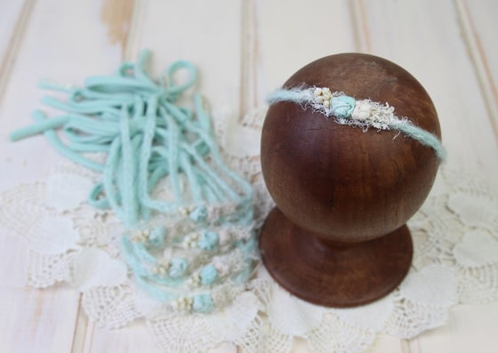 Image of Mint Braided Mohair Tieback with Jersey Ends