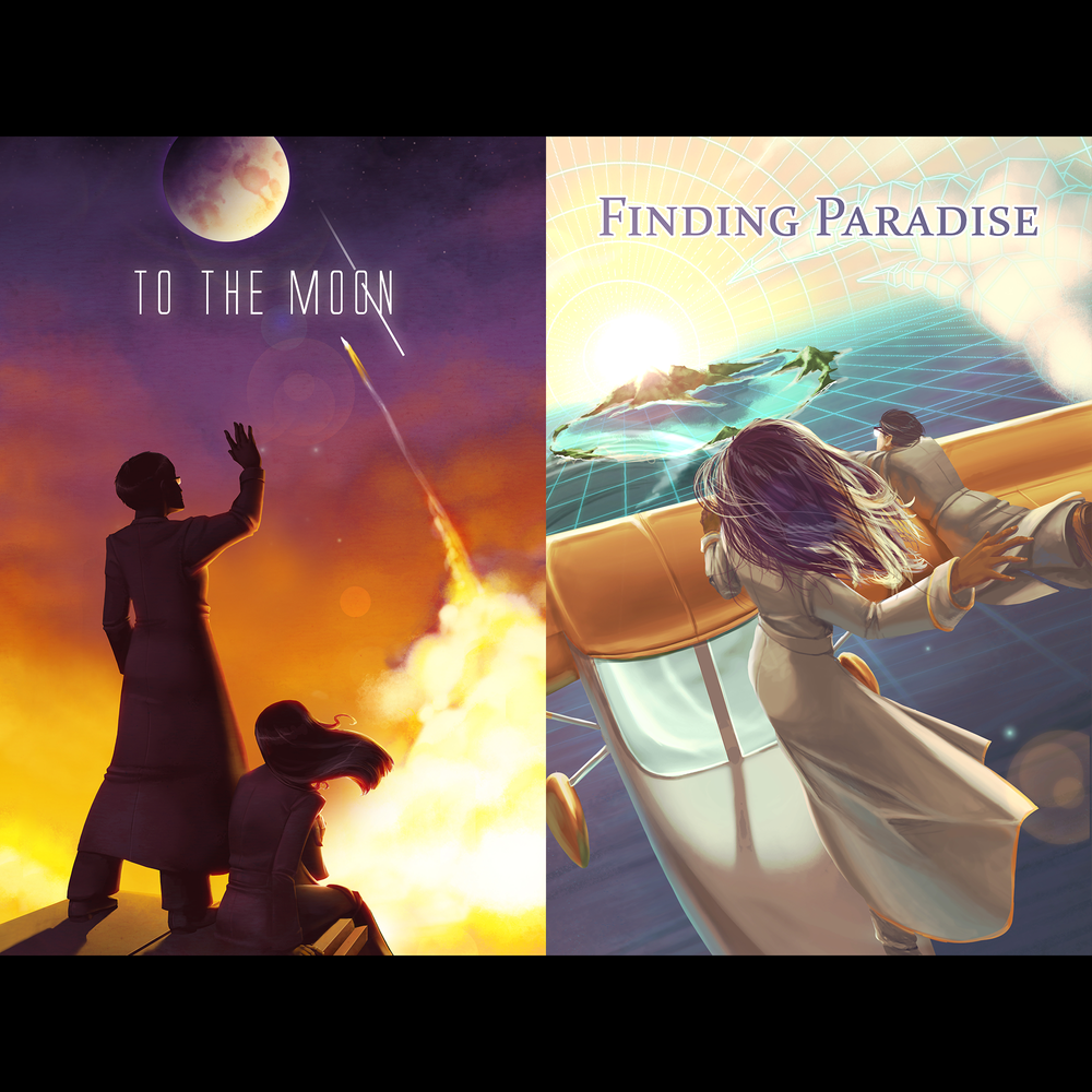 Image of Poster Bundle: To the Moon & Finding Paradise