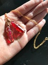 Ruby Aura Quartz necklace