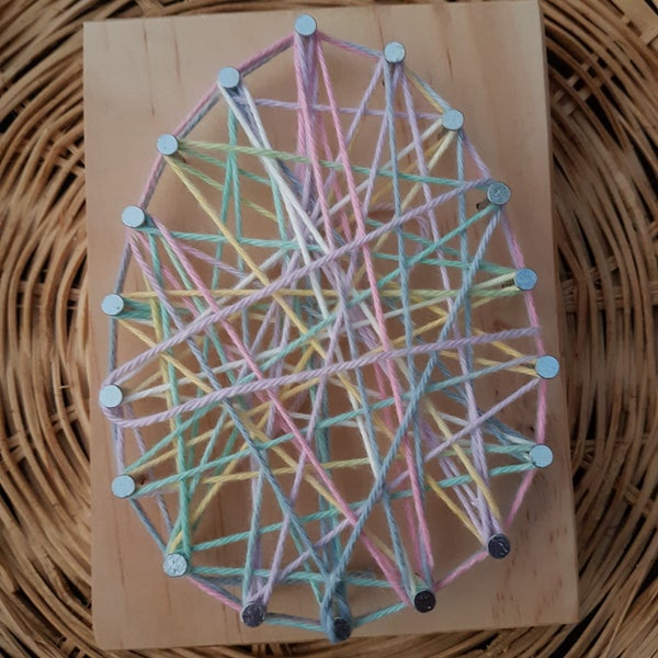 Image of Egg string art kit