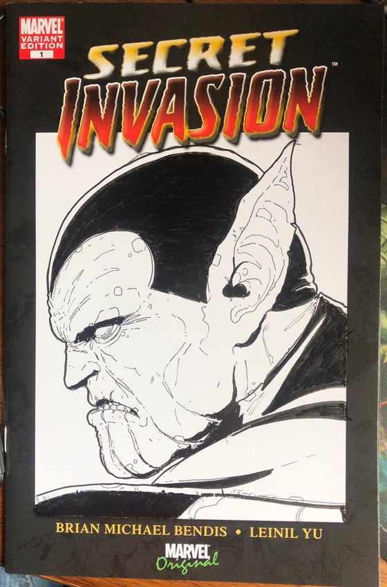 Image of Secret Invasion #1 sketch variant cover