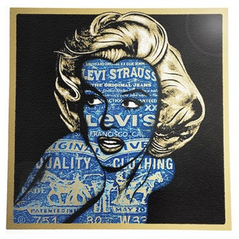 Image of NORMA JEANS - Classic BLUE on GOLD - only 5 prints left