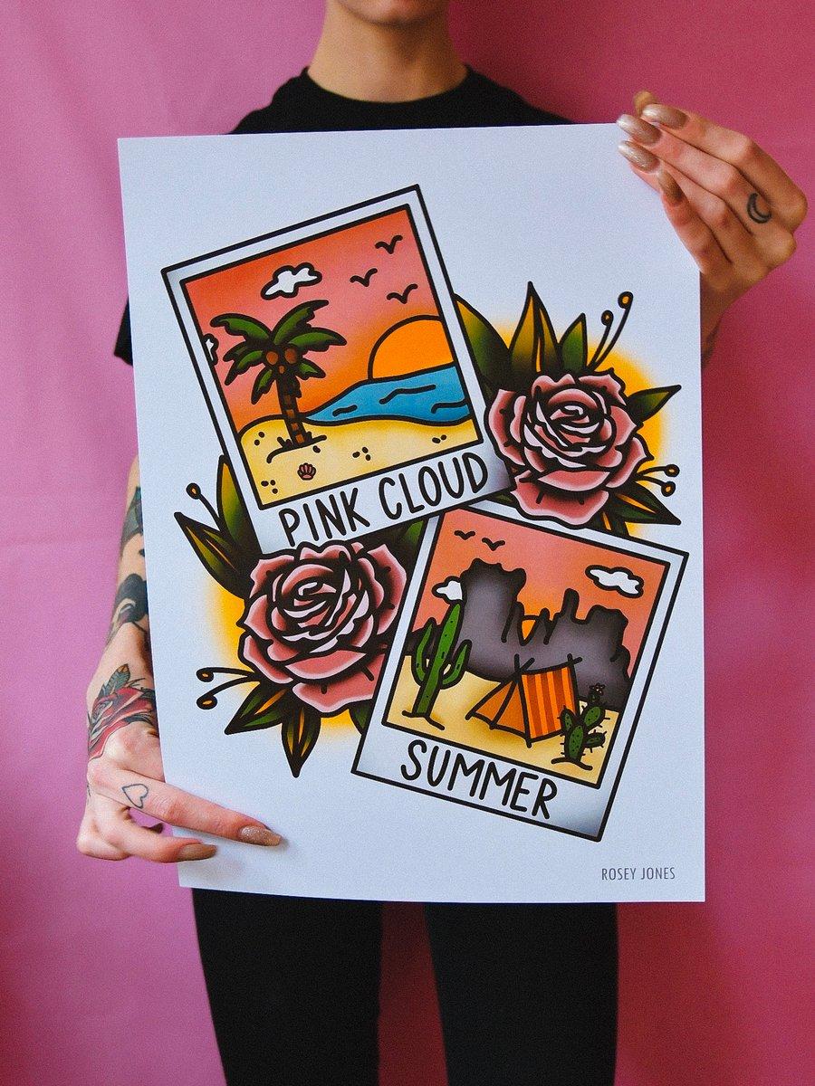 Image of Print Pink Cloud Summer