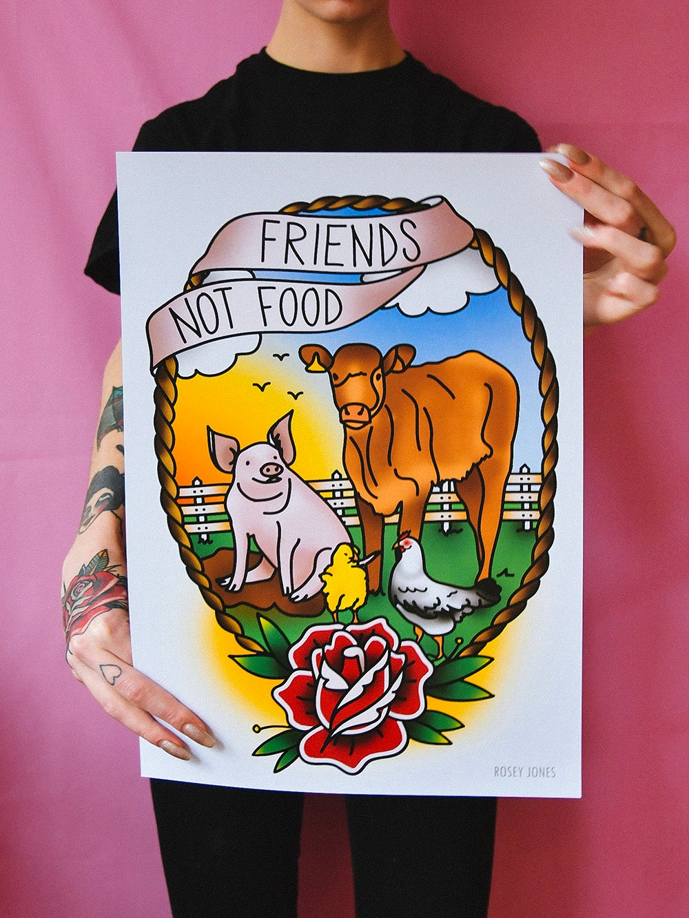 Image of Print Friends Not Food