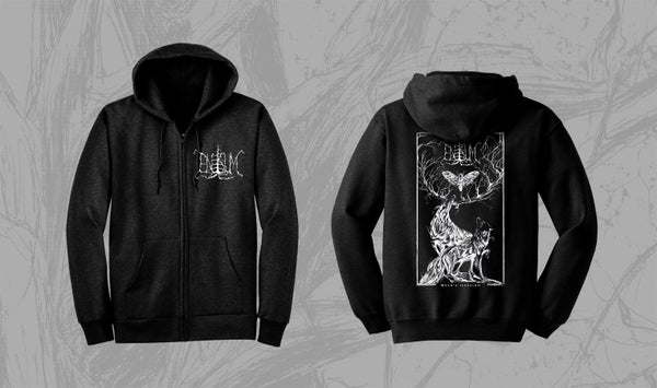 Image of Enisum - Moth's illusion Hooded Sweatshirt w Zipper. LAST ITEMS!