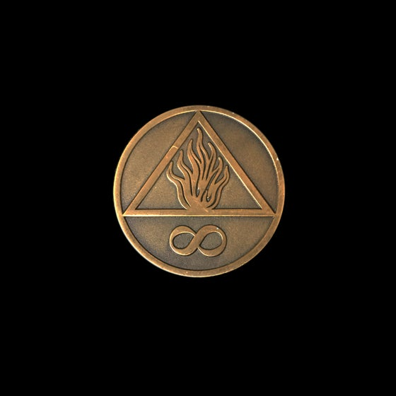 "Image of ""We Burn Forever"" Symbol-Pin"