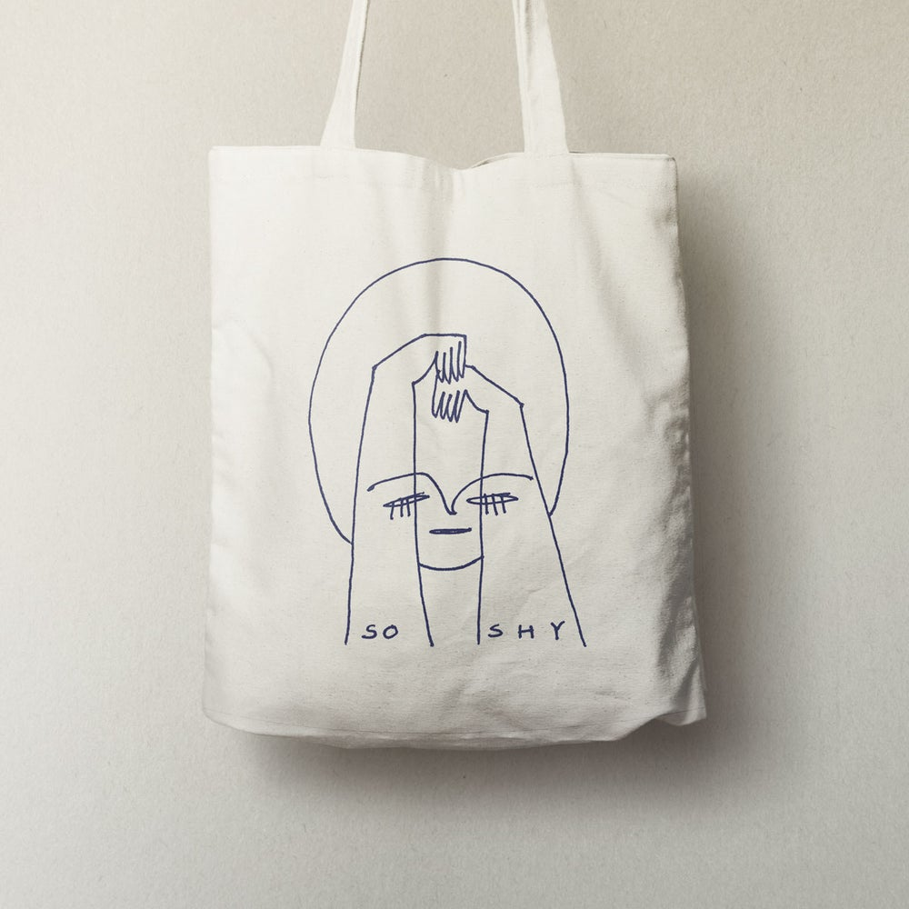 Image of so shy - totebag