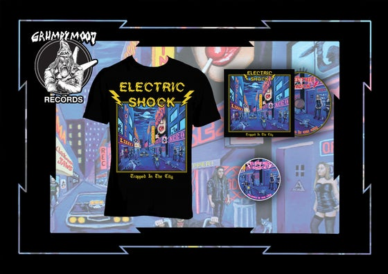 Image of ELECTRIC SHOCK - TRAPPED IN THE CITY CD DIE HARD PACK