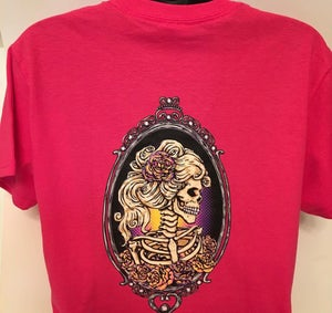 "Image of ""Skeleton Cameo"" Dark Pink T-Shirt"