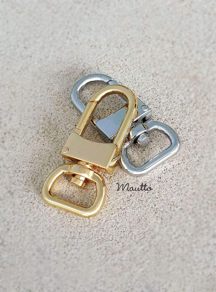 Image of Clips for Bag/Luggage Tags - Two Sizes - Gold or Nickel - Attachable #16LG - Handbag Accessory