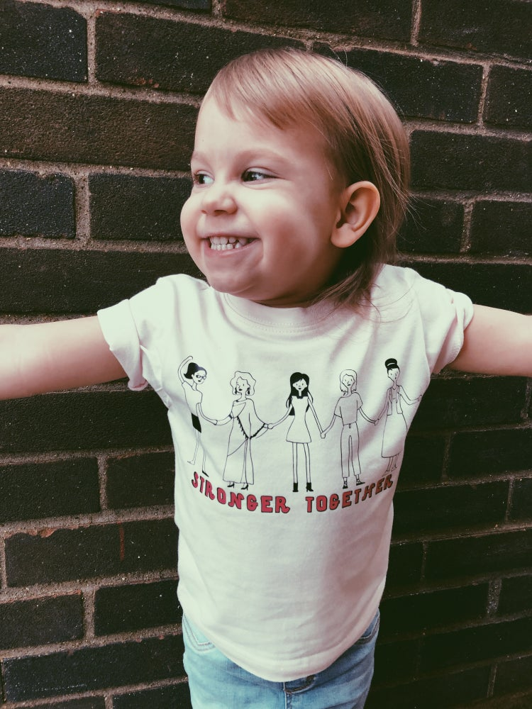 Image of Stronger together kids tee