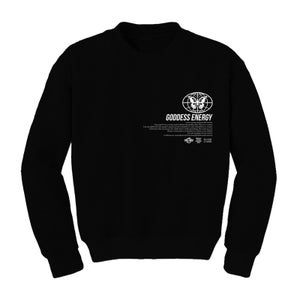 Image of GODDESS ENERGY BLACK CREWNECK | OFFICIAL GODDESS ENERGY COLLECTION