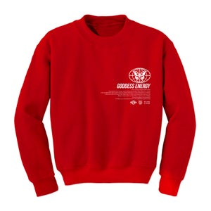 Image of GODDESS ENERGY RED CREWNECK | OFFICIAL GODDESS ENERGY COLLECTION