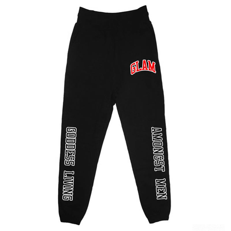 Image of GLAM UNIVERSITY JOGGERS   OFFICIAL GODDESS ENERGY COLLECTION