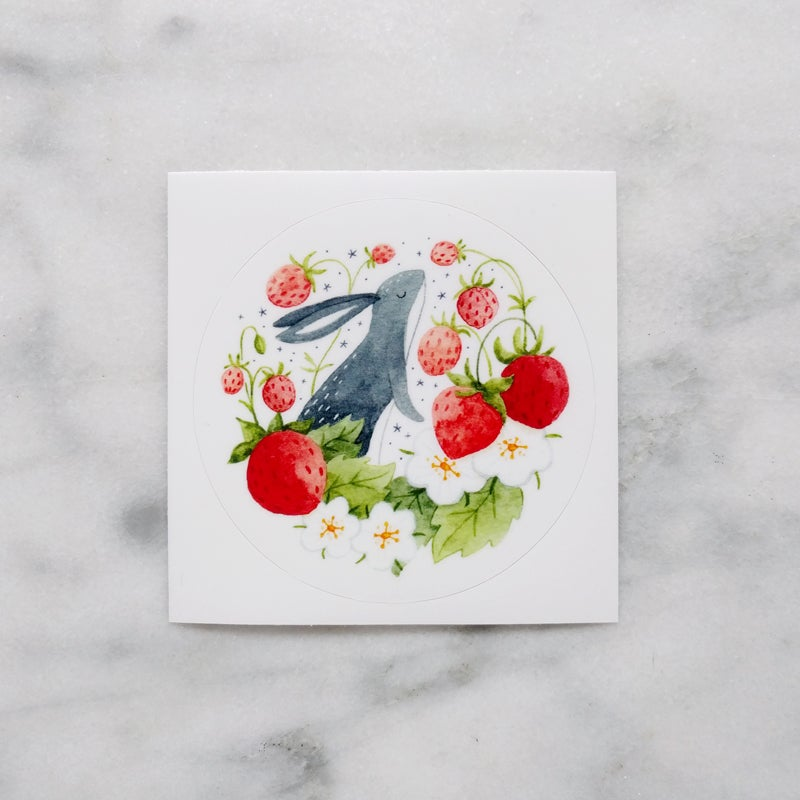 Image of Strawberry Bunny Sticker