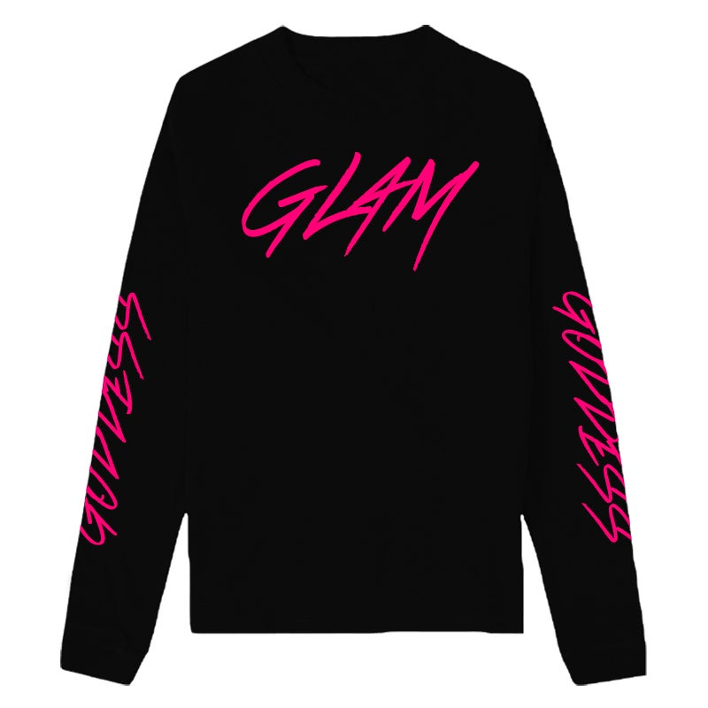 Image of GLAM HOT PINK ATTITUDE LONG SLEEVE | OFFICIAL GODDESS ENERGY COLLECTION