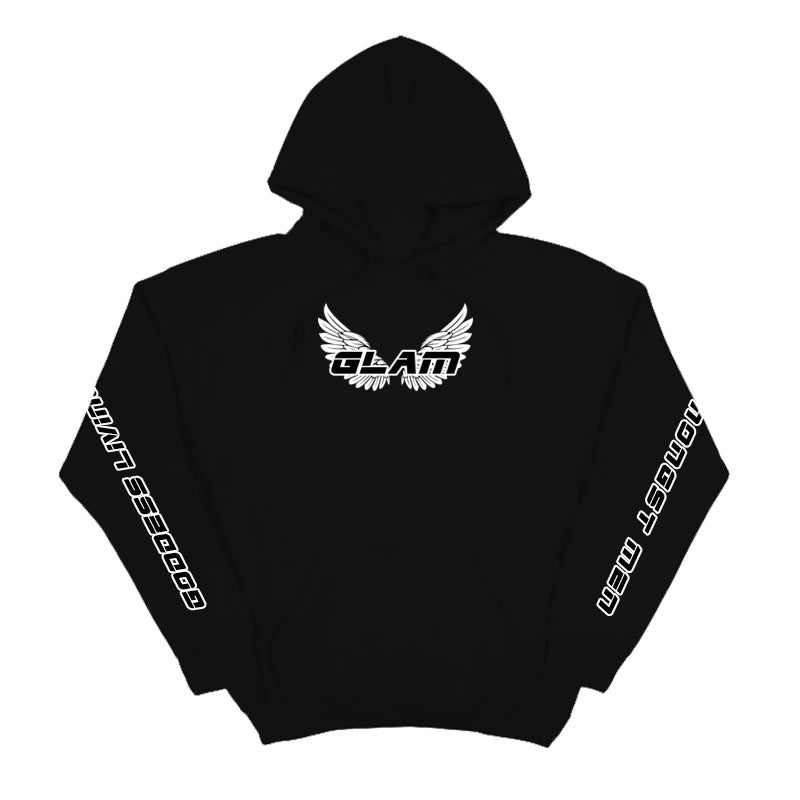 Image of GODDESS WINGS BLACK FULL LENGTH HOODIE | OFFICIAL GODDESS ENERGY COLLECTION