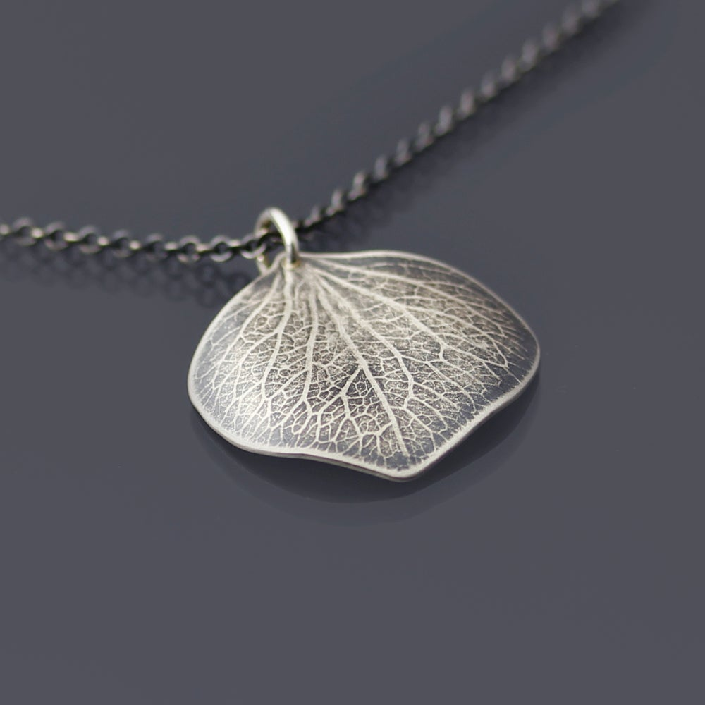 Image of Sterling Silver Hydrangea Petal Necklace No. 2