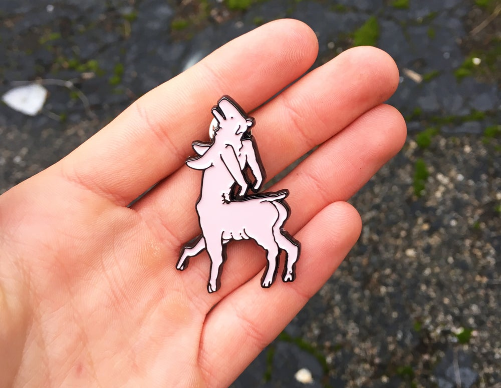 Image of Pig Goddess Soft Enamel Pin