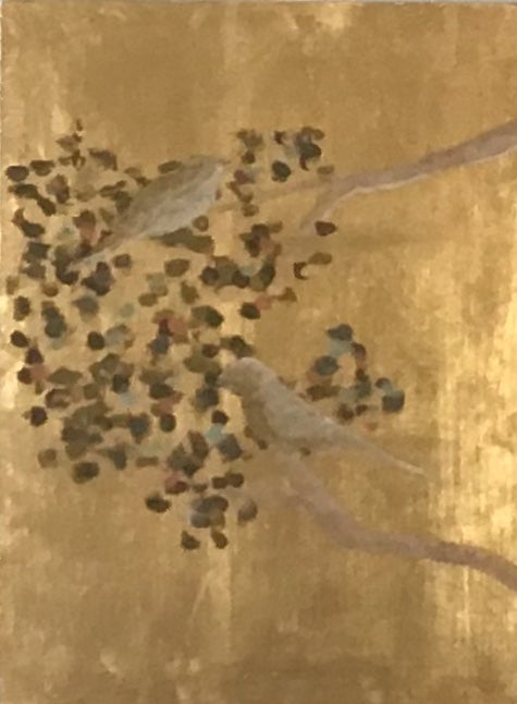 Image of Birds on Gold Panel