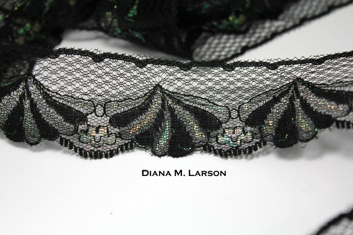 Image of Black iridescent lace