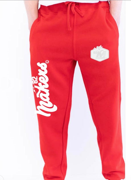 Image of Makers Primary Everyday jogger pant-Red