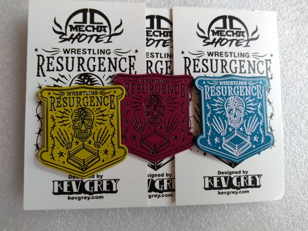 Image of Wrestling Resurgence Pin Badge
