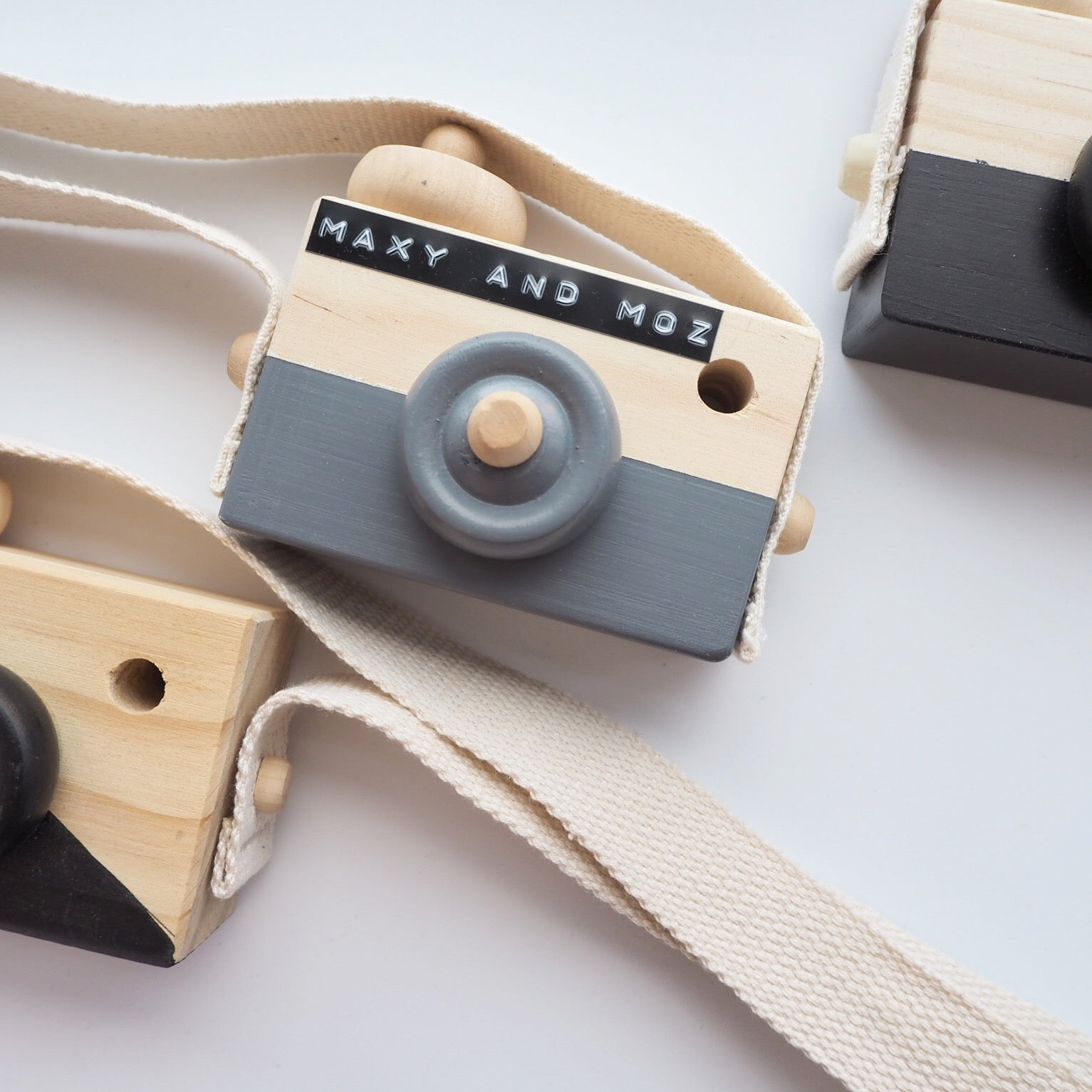 "Image of ""Say Cheese"" Wooden Camera- Available in various colours"