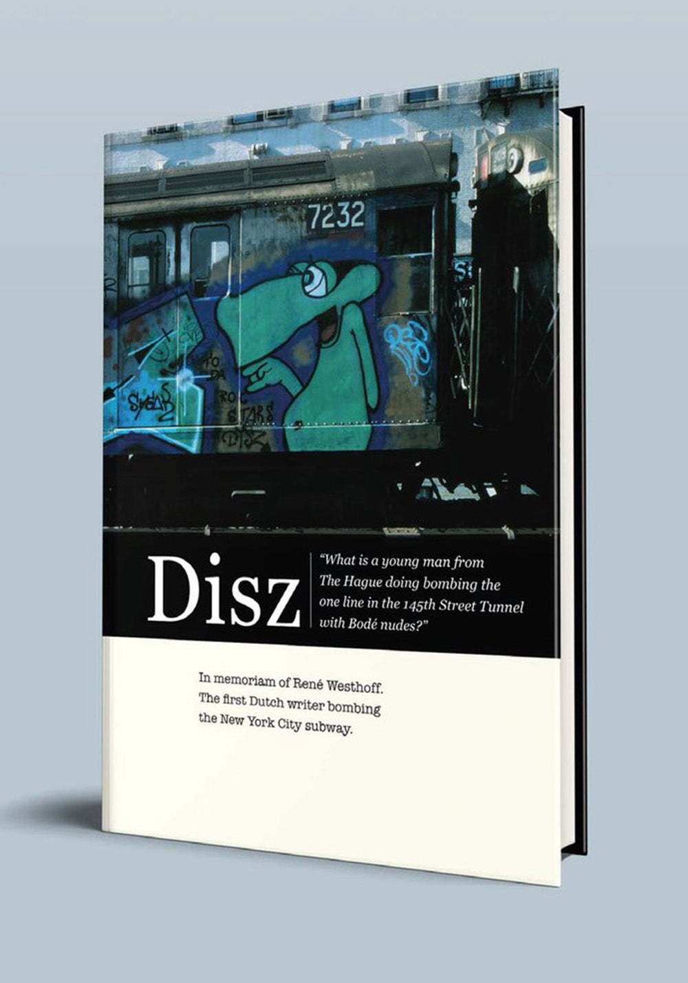 Image of Disz. The first Dutch writer bombing the New York City subway.