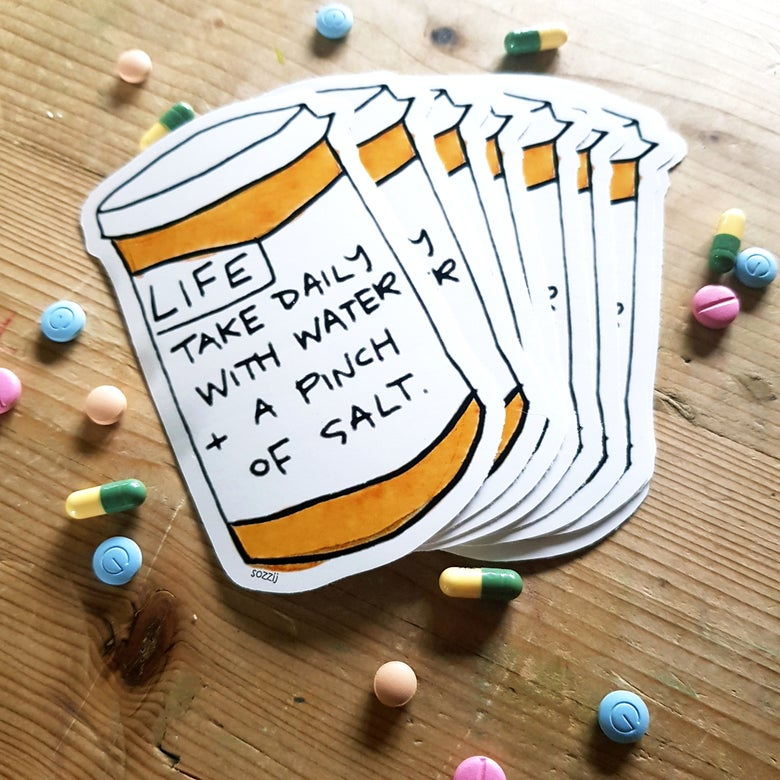 Image of Life pills vinyl sticker