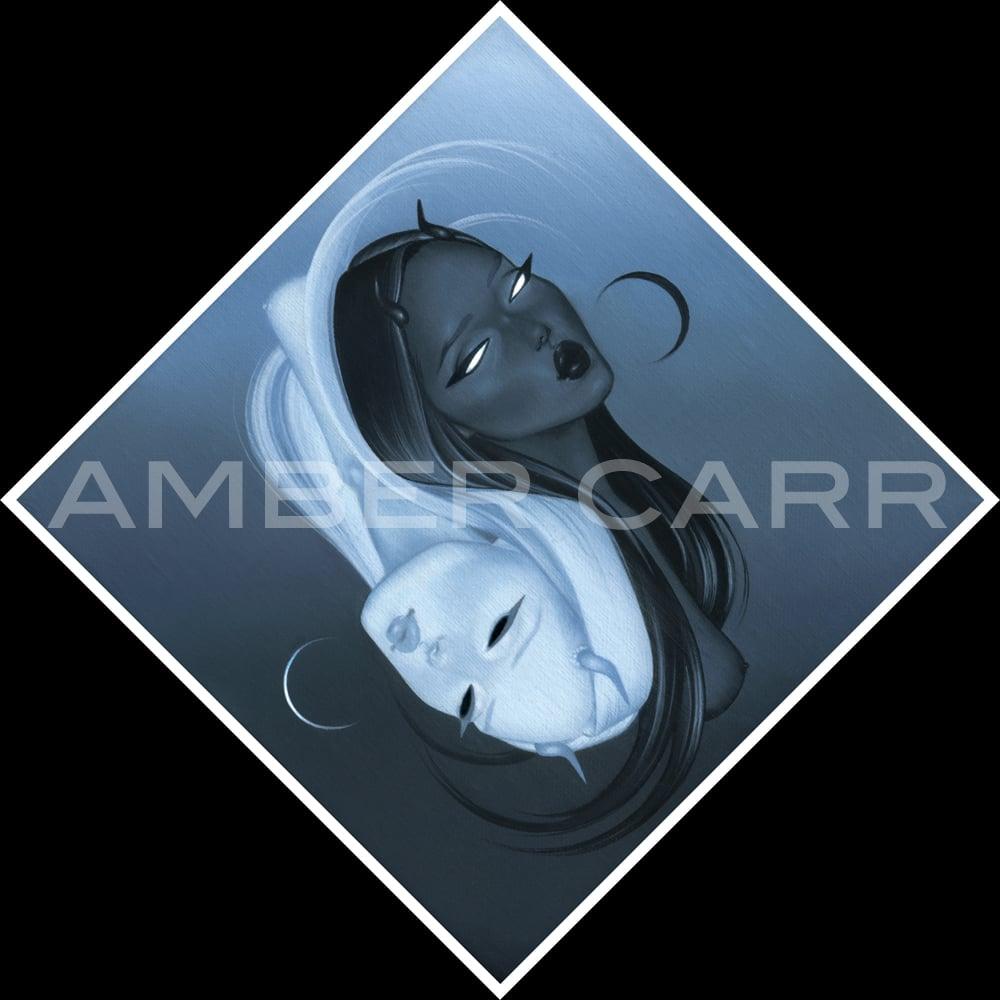 "Image of ""Gemini"" 8"" x 8"" Diamond Print"