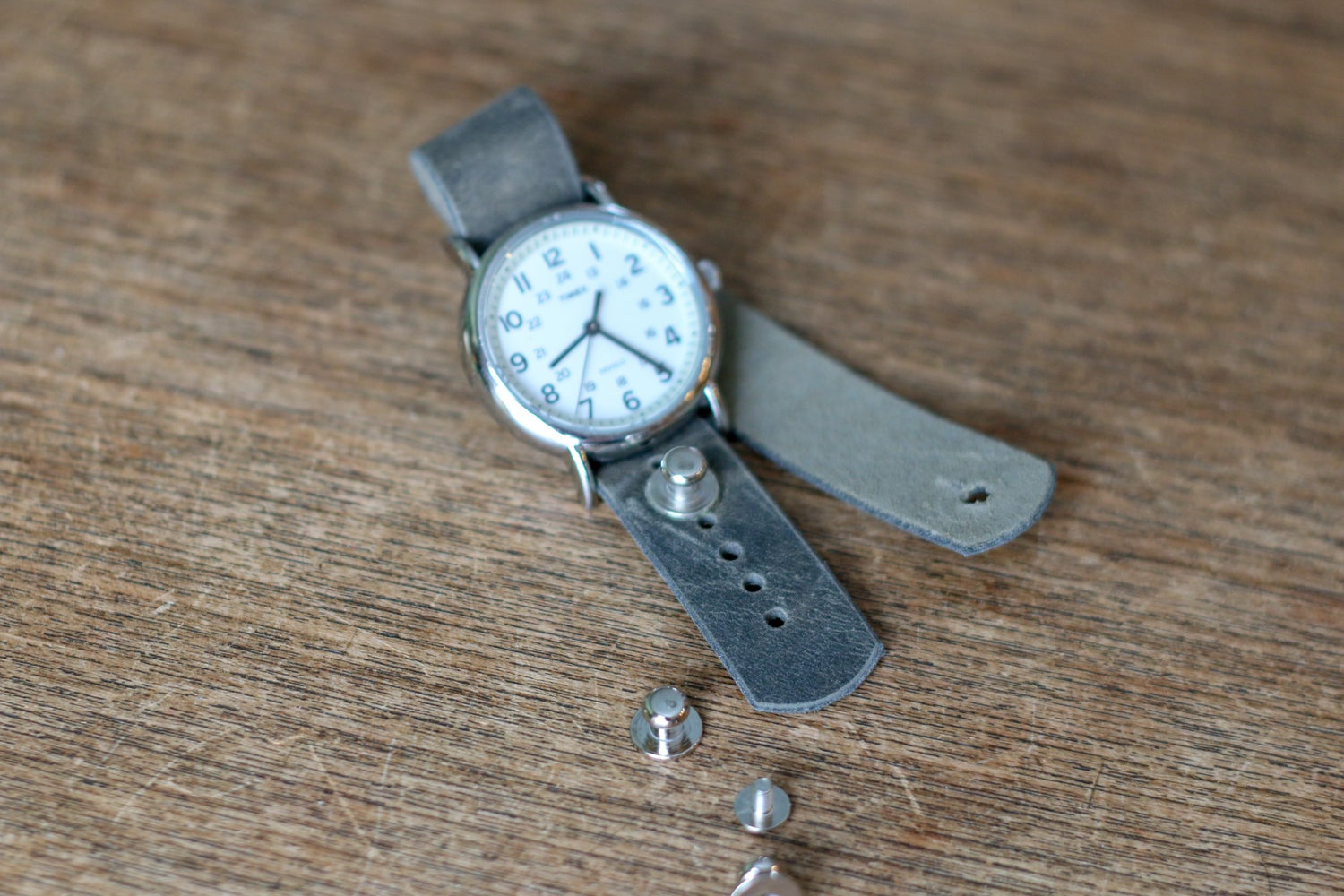 Image of Button Stud Watch Strap in Sage Folklore Vintage