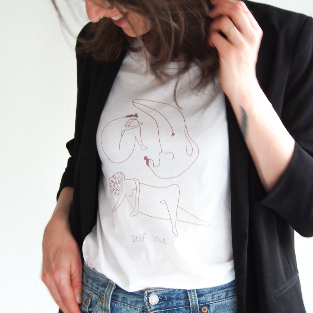 Image of T-SHIRT SELFLOVE - THE SIMONES X LYNN COSYN