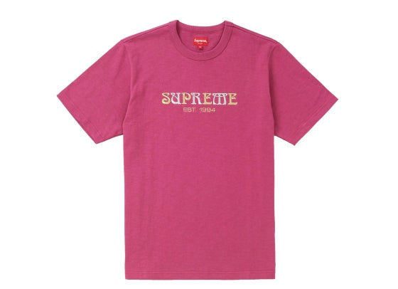 Image of Supreme Nouveau Logo Tee - Magenta - Size Medium