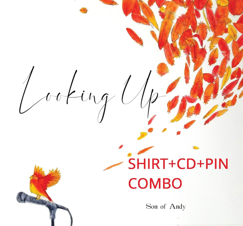 Image of SHIRT-CD-PIN COMBO!
