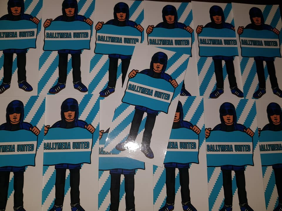 Ballymena United Football/Ultras/Casuals/Hooligans 10x5cm Stickers Pack of 25