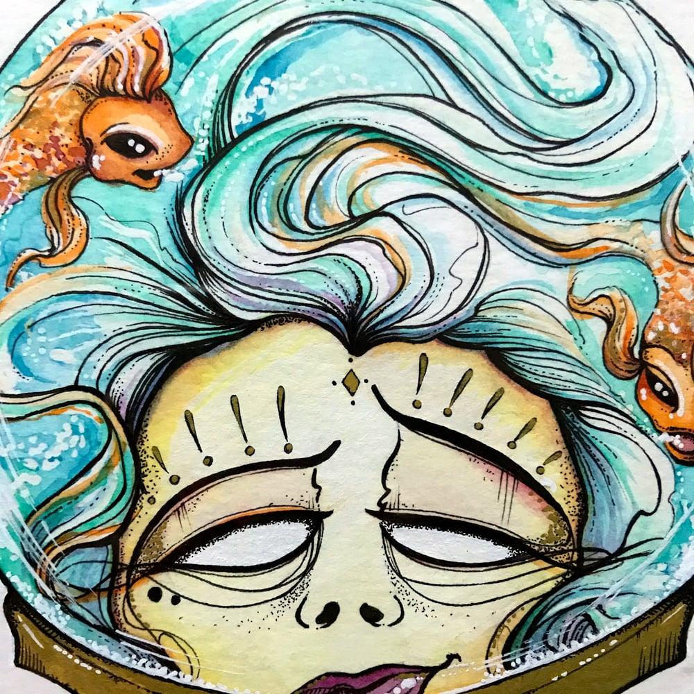 Image of In My Head - Framed - Original Watercolour artwork