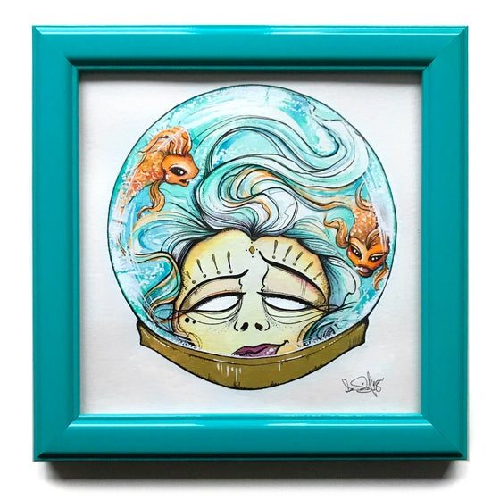 Image of In My Head - Framed - Original Watercolour artwork