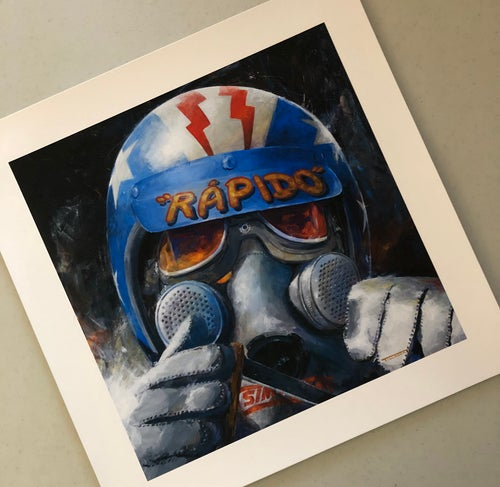 "Image of ""Rapido""  Color 13""x13"" Print"