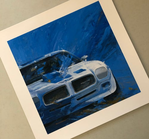 "Image of ""70 TA"" Racer Color 13""x13"" Print"