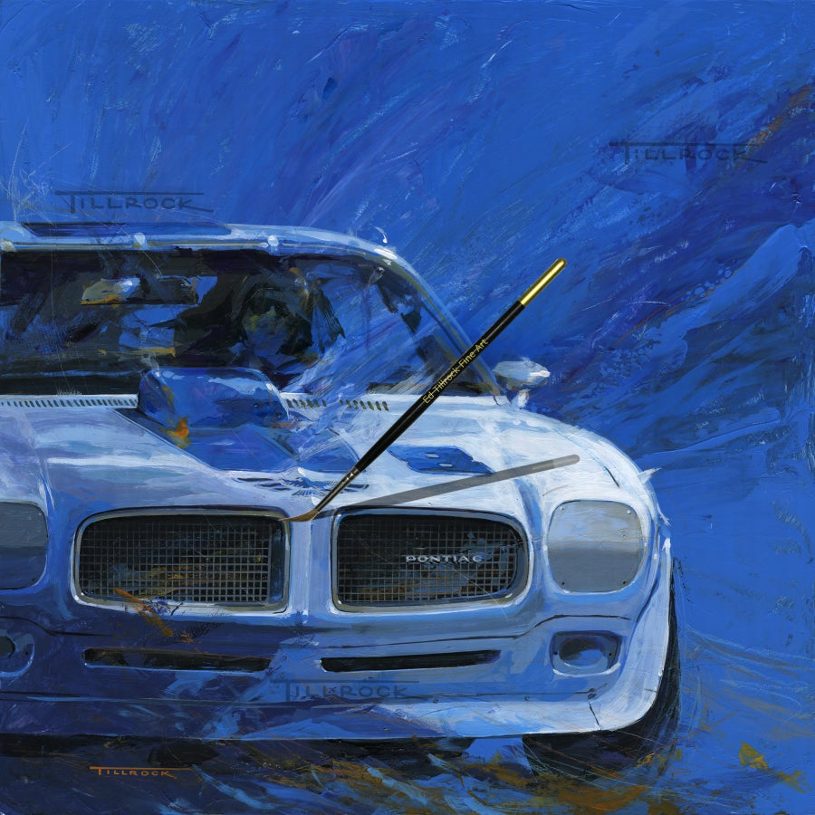"Image of ""70 TA"" Racer 24""x24"" Painting Print"