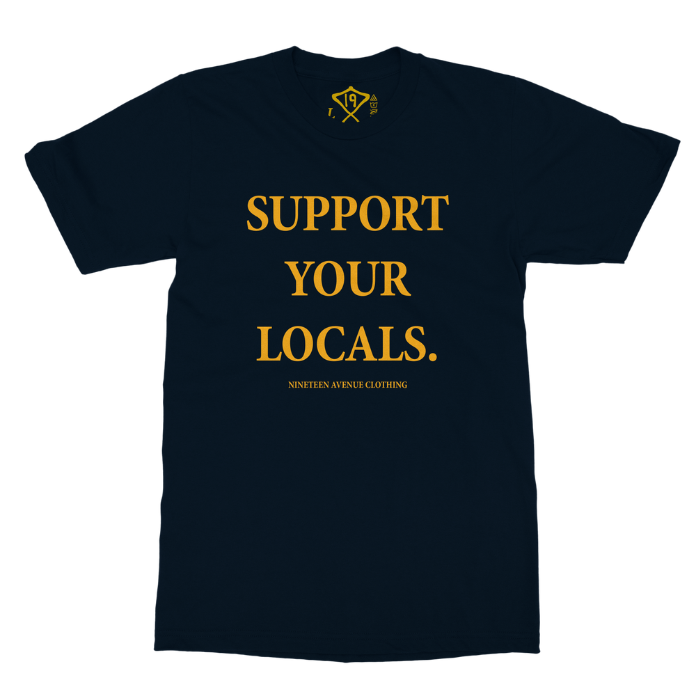 Image of Support Your Locals Tee (Navy)