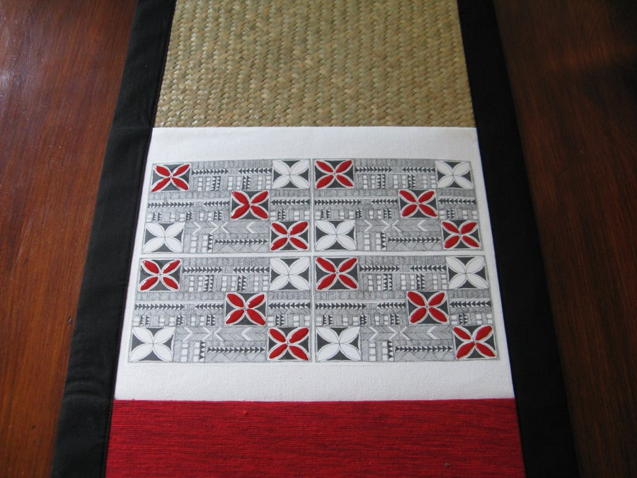 Image of Tapa inspired Runner in Red
