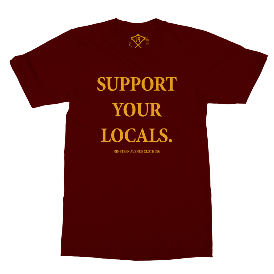 Image of Support Your Locals Tee (Maroon)
