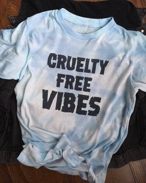 Image of Unisex cruelty free vibes t-shirt