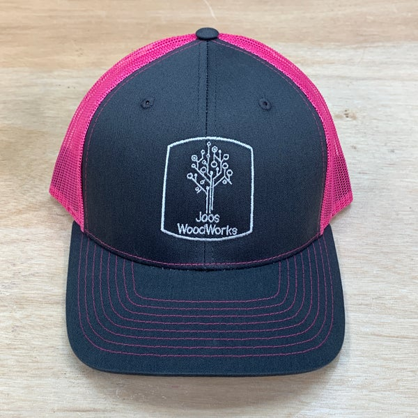 Image of Joos WoodWorks Hat (charcoal/neon pink)